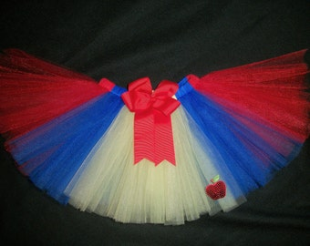 Snow White tutu, Snow White inspired tutu custom made sizes Newborn-4t