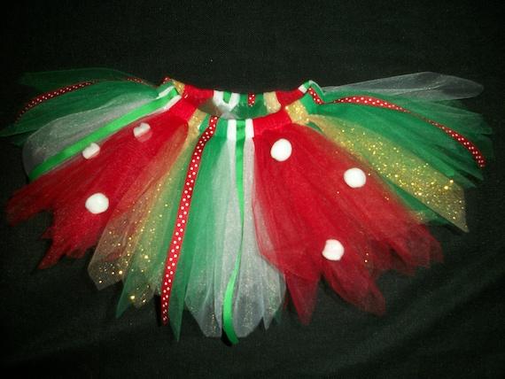 "Christmas tutu ""Little Elf"" custom made any size Newborn-4T"