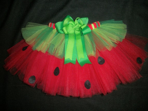 Watermelon picnic tutu, 4th of July tutu or Summer Birthday tutu custom made up to a size 4t