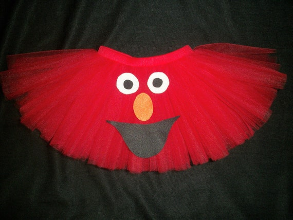 Elmo tutu, custom made up to a size 4t perfect for Elmo birthday or Elmo costume