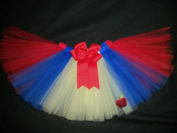 Snow White tutu, Snow White inspired tutu custom made sizes Newborn-4t