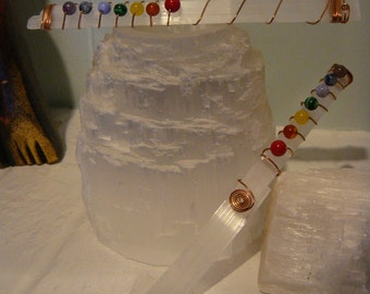 Selenite Chakra Harmony  Wand **