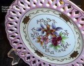 Gorgeous Occupied Japan Pink Floral Reticulate Plate