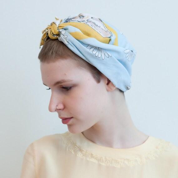 "printed cotton scarf - cotton voile - Fennec Foxes - 25"" x 25"""