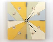 SUMMER:  geometric linear wall clock