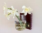 LILAC: modern eggplant wall mount flower vase