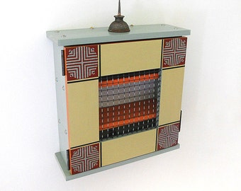 SMALL WALL CABINET: Asian Inspired Small Storage Cabinet. Perfect for Organizing Small Items.