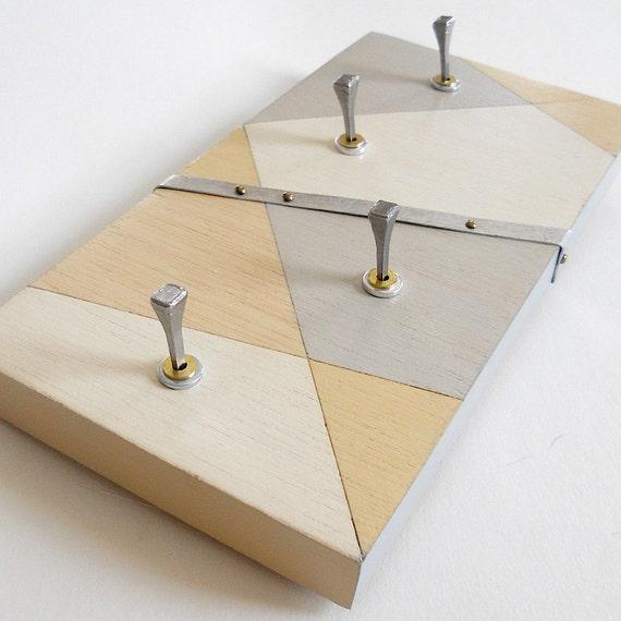 HARLEQUIN: modern key rack wall mount key organizer hooks