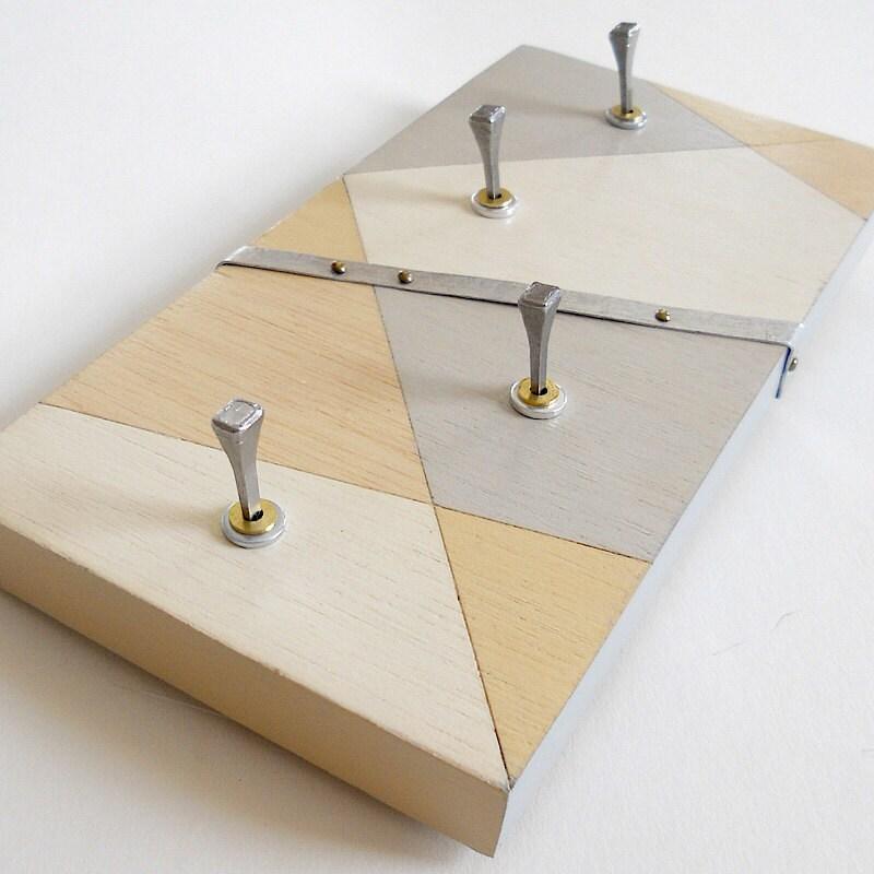 Harlequin Modern Key Rack Wall Mount Key Organizer Hooks