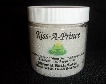 Help Me Breathe Sinus Aromatherapy Bath Salts Made with Dead Sea Salts 8 oz.