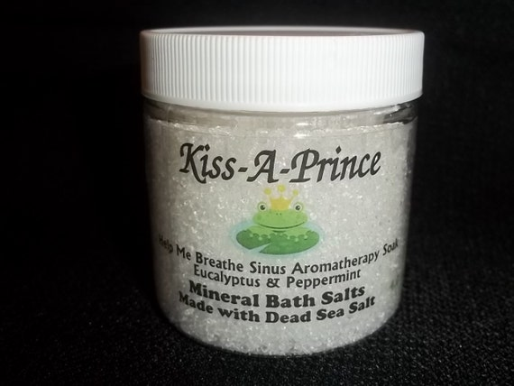 Help Me Breathe Sinus Aromatherapy Bath Salts Made with Dead Sea Salts 8 oz.