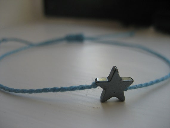 Hematite Star Boho Layering Bracelet (14 Colors)