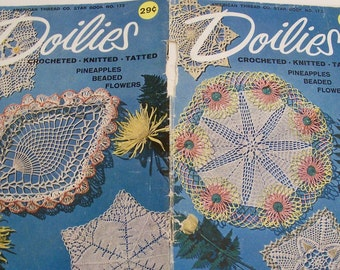 Doilies Crocheted Knitted Tatted Instruction Booklet