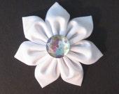 White Bling Bow