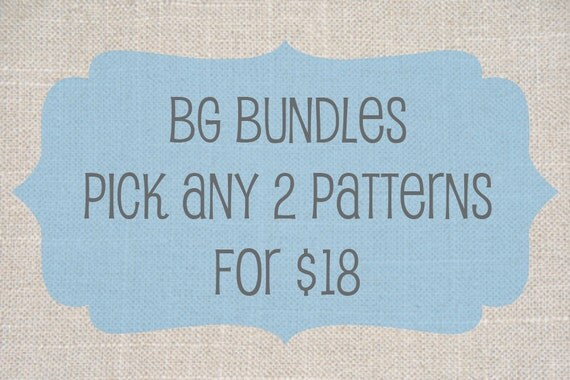 BG Bundles - Choose any 2 PDF patterns for 18