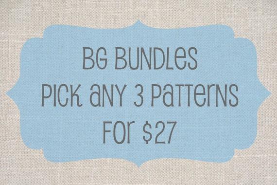 BG Bundles - Choose any 3 PDF patterns for 27