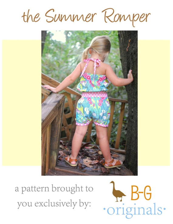 BG Original The Summer Romper pdf pattern