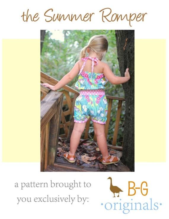 BG Original The Summer Romper pdf pattern