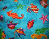 Infant Car Seat Cover Hawaiian Ocean Fishes Jellyfish Starfish Nemo Graco Combi Universal