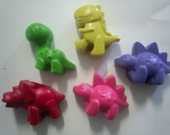 Recycled Crayons  Dinosaurs   set of 12
