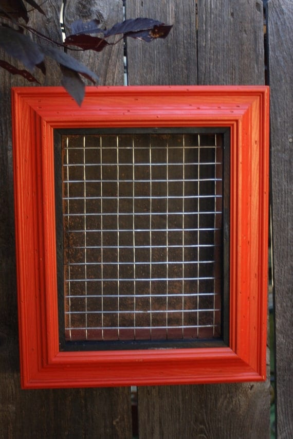 Custom Vertical Wall Succulent Planter Box with Vintage Frame for Summer