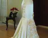 Ivory Mermaid Beach Wedding Dress,Prom, size S Sale!