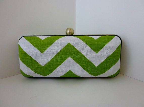 Chevron stripe clutch purse/minaudiere/Bridesmaid clutch