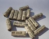 Vintage Dictionary - 15 Handmade Beads