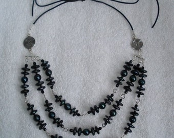 Manta green necklace