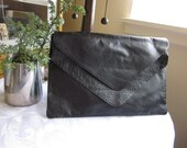 Black Genuine Leather thin Purse