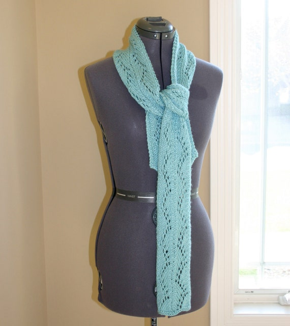 Sea Glass Blue/ Aqua Light Weight Spring or Summer Scarf