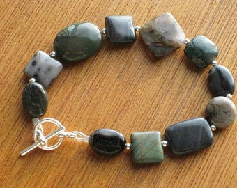 Dark Mixed Stone Bracelet (B1053)