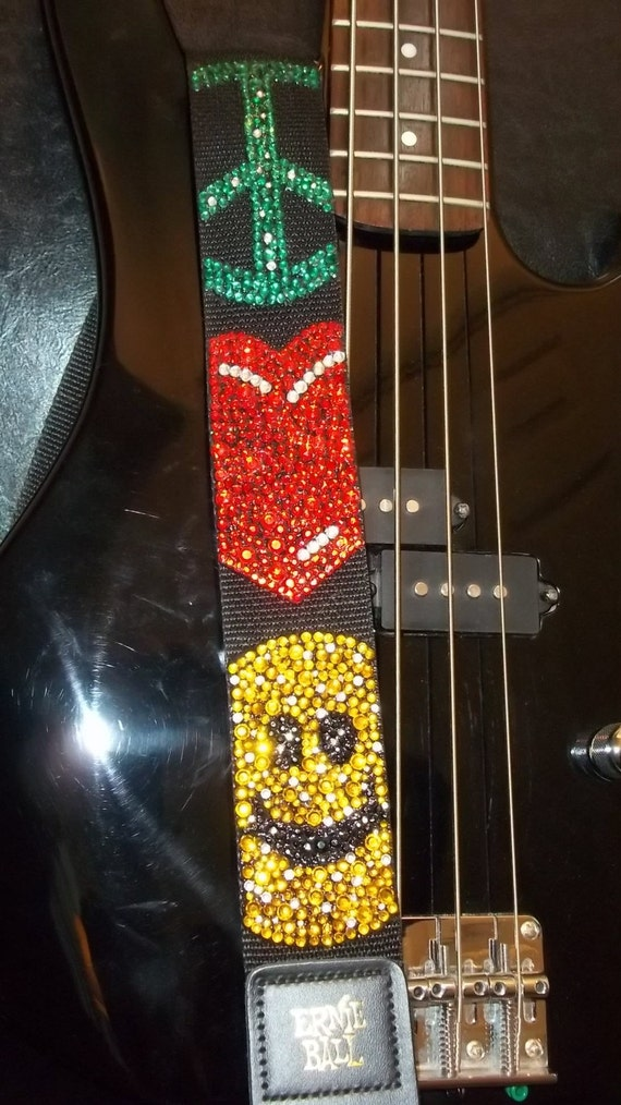 Give Peace A Chance guitar strap