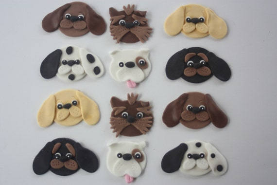 Fondant Cupcake Toppersassorted Dogs Puppies