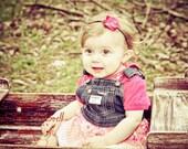 Pink Flower Baby Headband...Newborn, Baby, Toddler, Teen, Adult...Photo Prop, Baby Shower Gift, Easter Headband