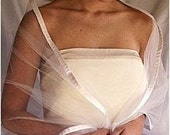 Tulle Ribbon Bridal Wrap WR6