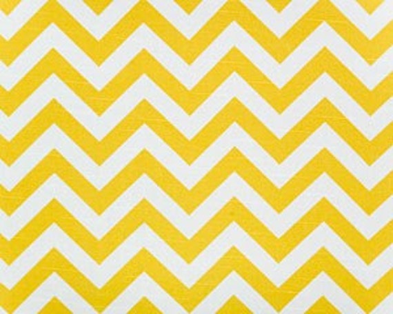 1 Yard Zig Zag Fabric in Corn Yellow, Chevron Fabric, Home Dec, Premier Prints