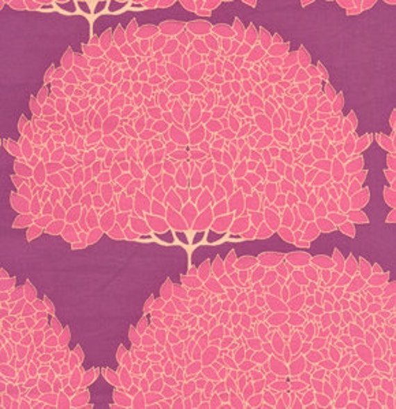 """SALE, 1 Yard """"Trees"""" in PInk, Haven's Edge, Tina Givens"""