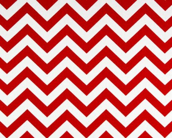 "1 Yard ""Zig Zag"" Fabric in Cherry Red, Chevron, Premier Prints, Home Dec"