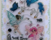 Dancing fairy - Fairies and pixies - set 03 - Flonz clear stamps