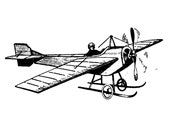 Airplane. Vintage engraving // FLONZ clear acrylic stamps