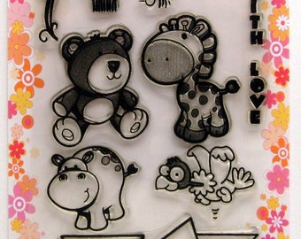 Funny Animals - FLONZ clear stamps - set 3