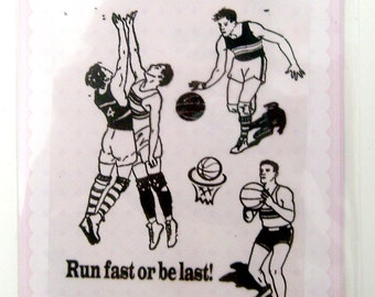 Basketball - Vintage series - set 28 - Flonz clear stamps