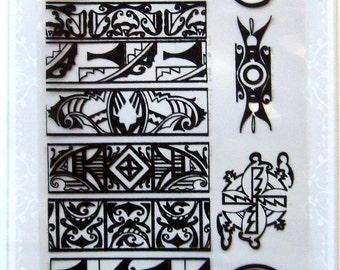 Native americans ornaments -- Flonz clear stamps set 020