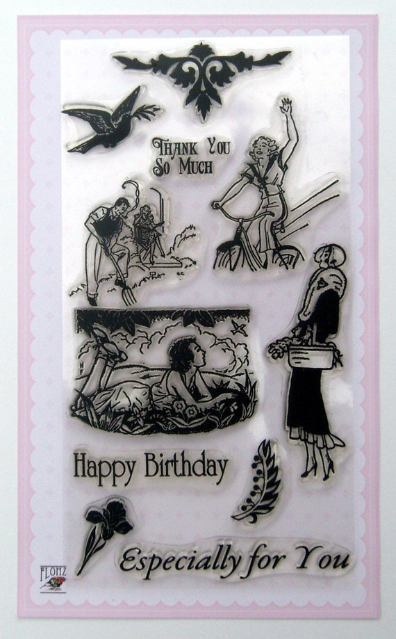 Active holidays - vintage series - set 16 - Flonz clear stamps