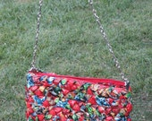 GREAT GIFT, Handmade  purses made of upcycled candy wrappers,  Eco friendly