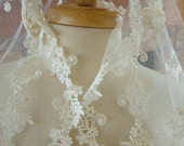Vintage lace veil wedding dress perfect lace appliques
