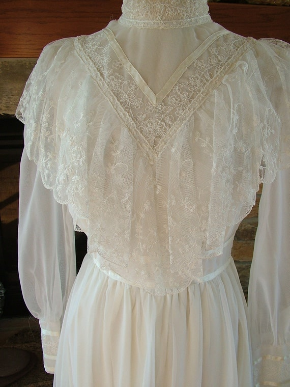 Vintage gunne sax wedding dress bridal gown jessica mc for Jessica mcclintock wedding dresses outlet