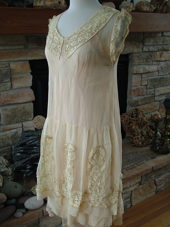 Items similar to wedding dress 1920s vintage roaring for Roaring 20s wedding dress