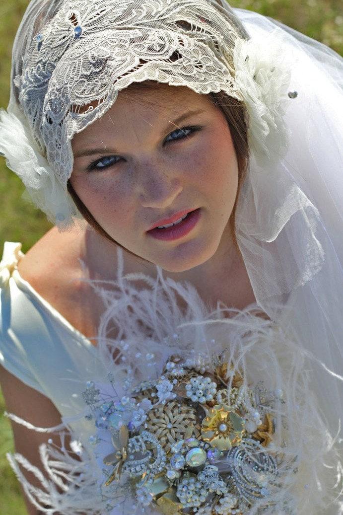 Antique Lace Vintage Wedding Veil 1920s By